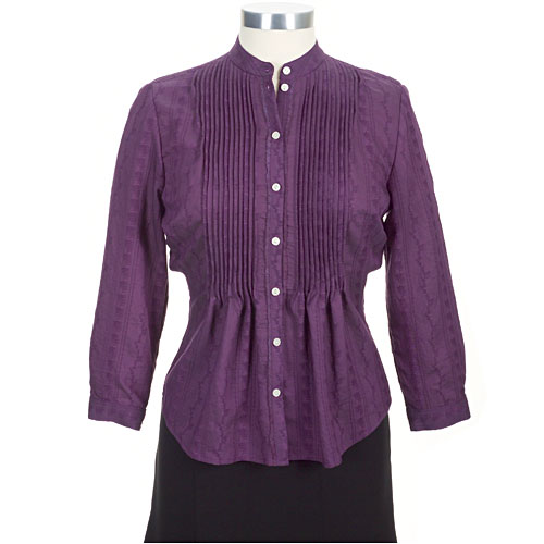 Purple pintucked blouse!